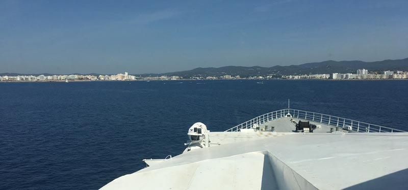 Llegada al Puerto de Sant Antoni de Ibiza con Almudaina Dos