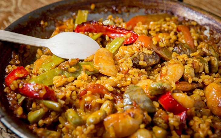 Paella de verduras, otro de los platos estrella de L'Arrosseria Xàtiva