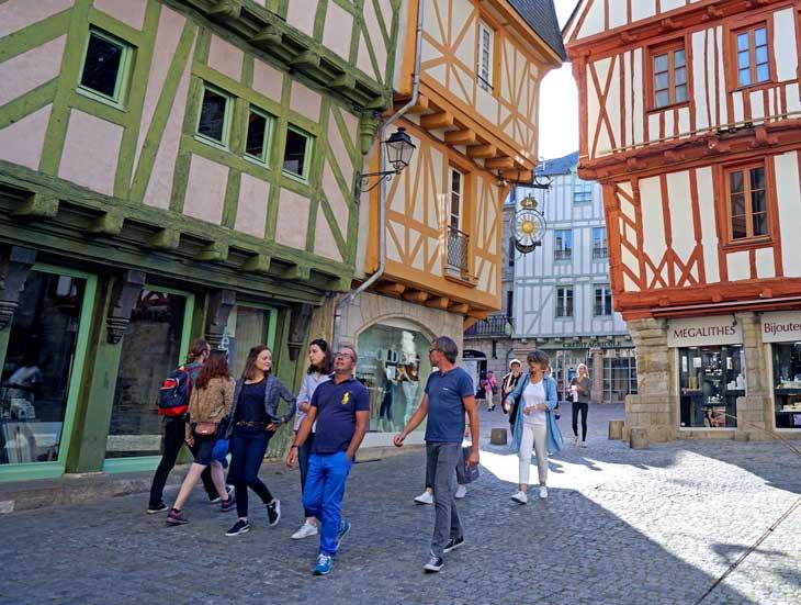 Casas medievales típicas de Vannes