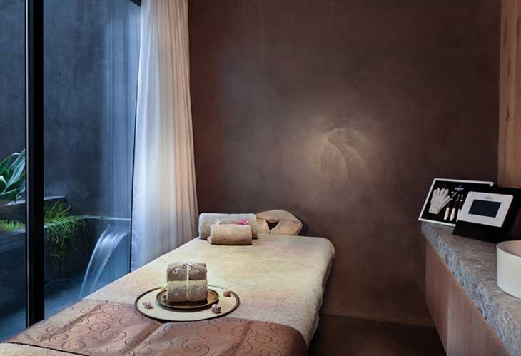 Sala de tratamientos faciales en Mayan Secret Spa