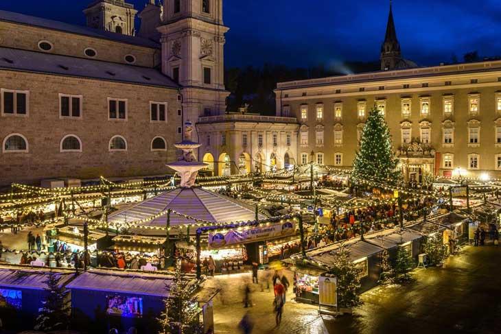 Christkindlmarkt en Salzburgo
