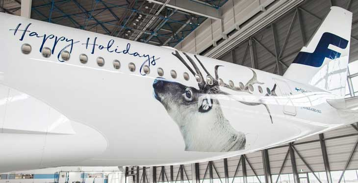 Los renos serán los protagonistas de los aviones de Finnair esta Navidad
