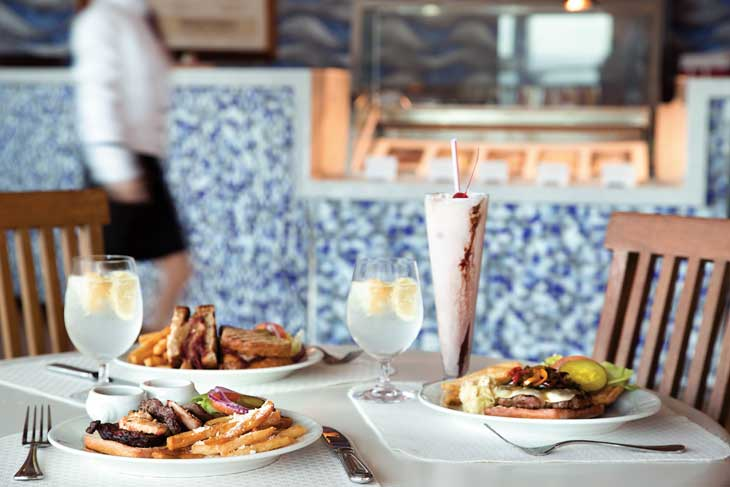 Propuestas gastronómicas del Waves Grill