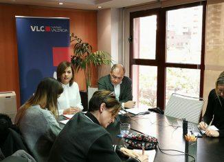 Presentación de la campaña València 360º con la primera teniente de alcalde del Ayuntamiento de Valencia y presidenta de la Fundación Turismo València, Sandra Gómez, así como el director general de Turismo València, Toni Bernabé