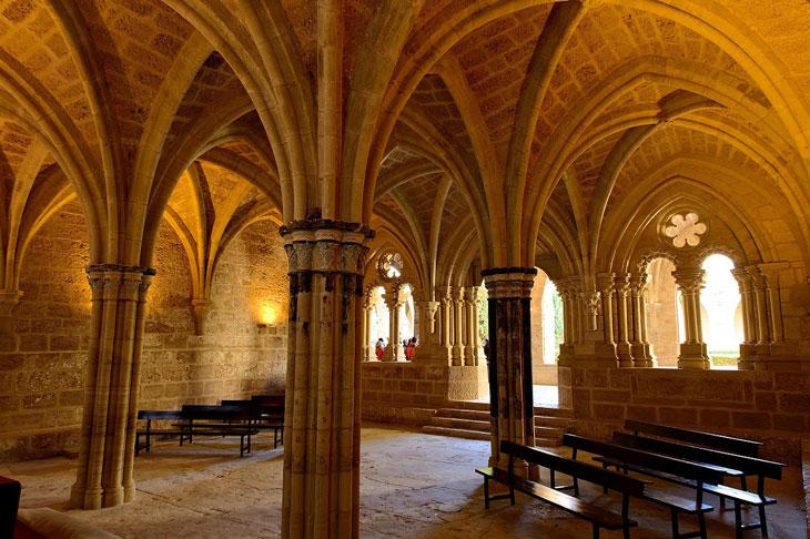 Sala capitular del Monasterio de Piedra