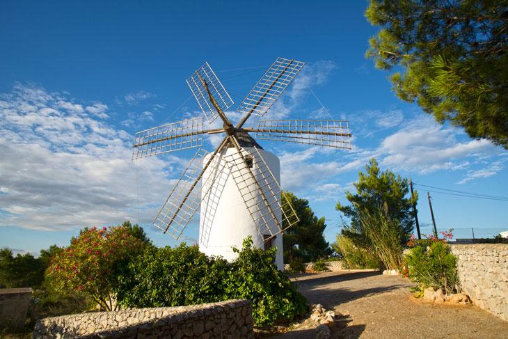 Molino harina de Puid d'en Valls en Santa Eulària des Riu