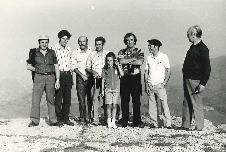 Félix Rodríguez de la Fuente (tercero por la derecha). Autor Policarpo de la Fuente