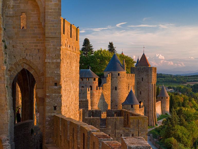 Muros de Carcassonne. Foto Oficina de Turismo de Carcassonne