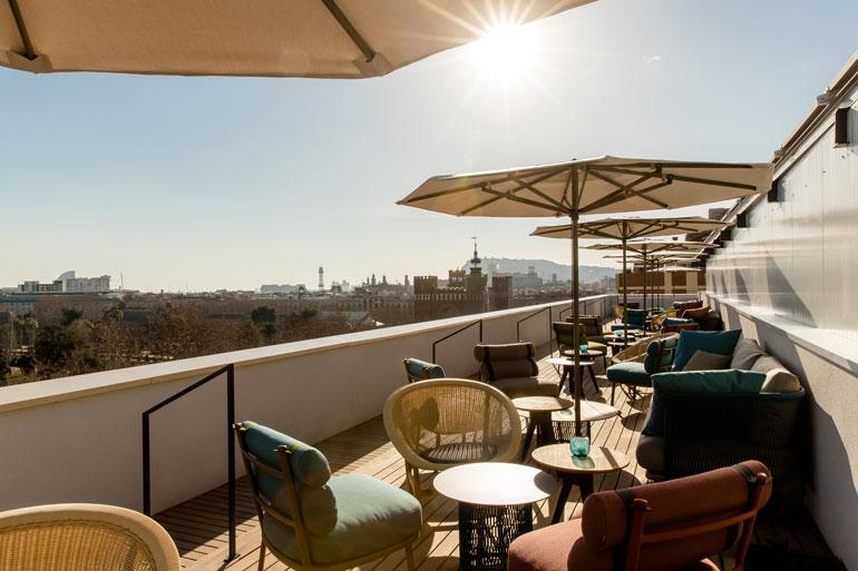 Azotea del hotel Motel One Barcelona-Ciutadella