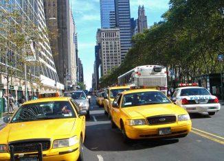 Los taxis amarillos son verdaderos emblemas de Nueva York