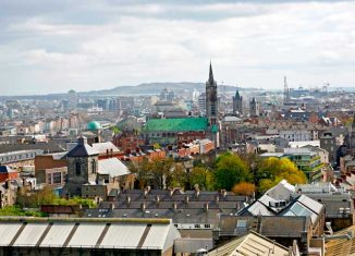 Vistas de Dublín desde el Gravity Bar de la Guinness Storehouse
