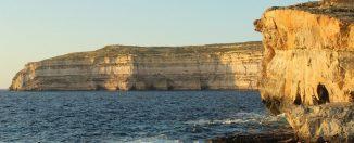Este es el lugar donde estaba la famosa Ventana Azul de Gozo que colapsó en 2017
