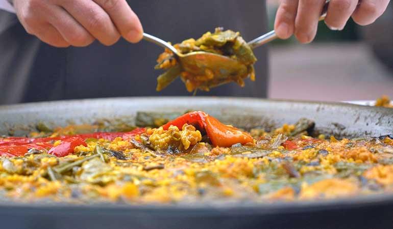 Arroz con verduras, uno de los platos murcianos por excelencia