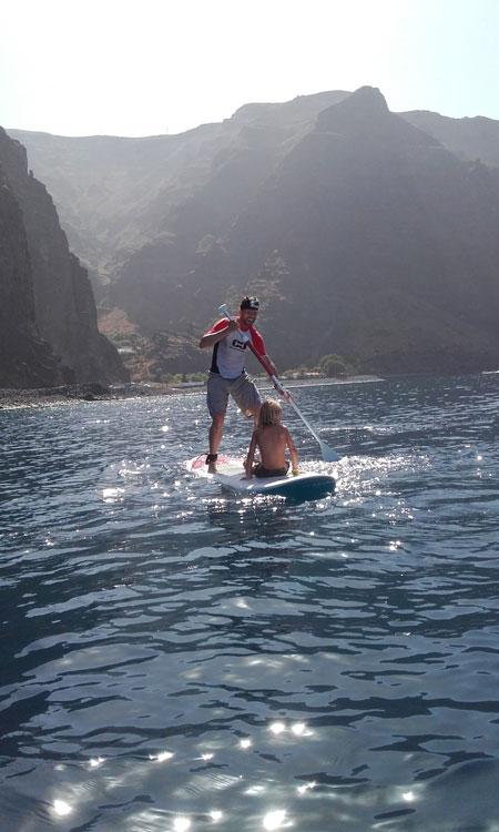 Paddle surf en La Gomera