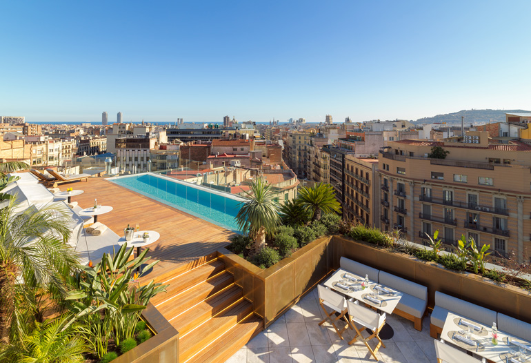 Plunge Pool en The One Barcelona