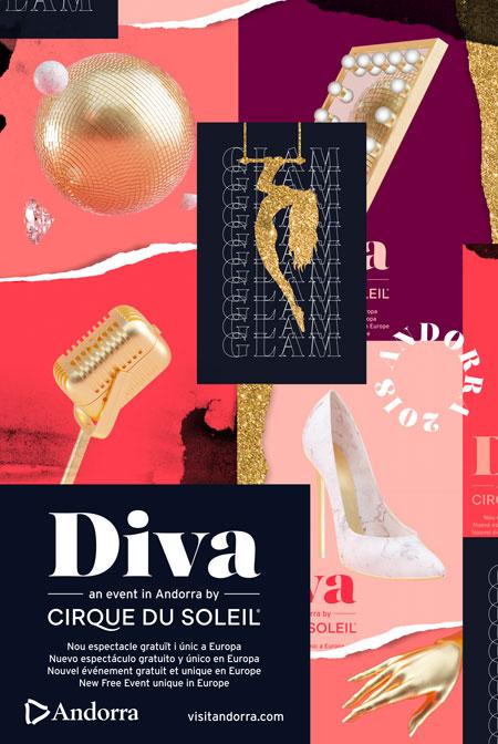 Cartel de Diva, en el Cirque du Soleil