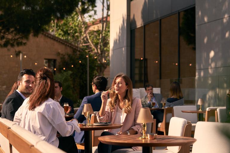 Terraza del Hotel Princesa Sofía de Barcelona