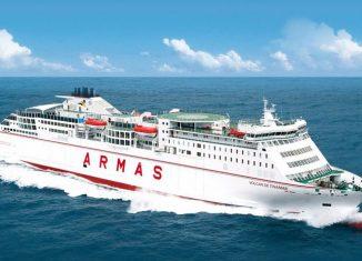 El ferry Volcán de Tinamar, del Grupo Naviera Armas, hará la ruta Barcelona-Mahón-Barcelona