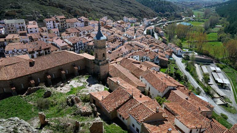 Vistas desde el castillo de Alcalá de la Selva