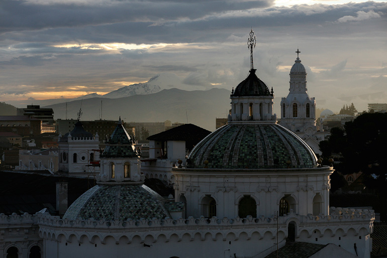 Cúpulas de la iglesia de La Compañía, en Quito