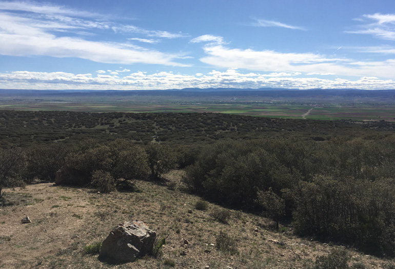 Vistas de la comarca Comunidad de Teruel desde la vía ferrata Peña Palomera