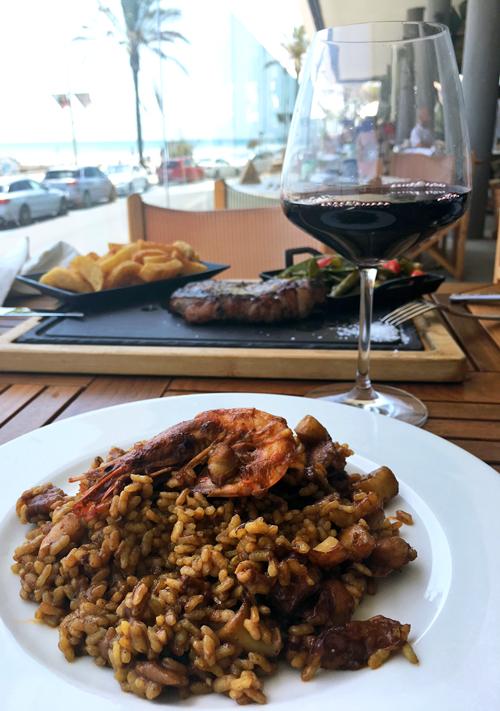 Gastronomía en el restaurante El Beso Sitges