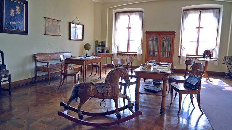 Una de las estancias de los niños que habitaron el castillo de Lednice