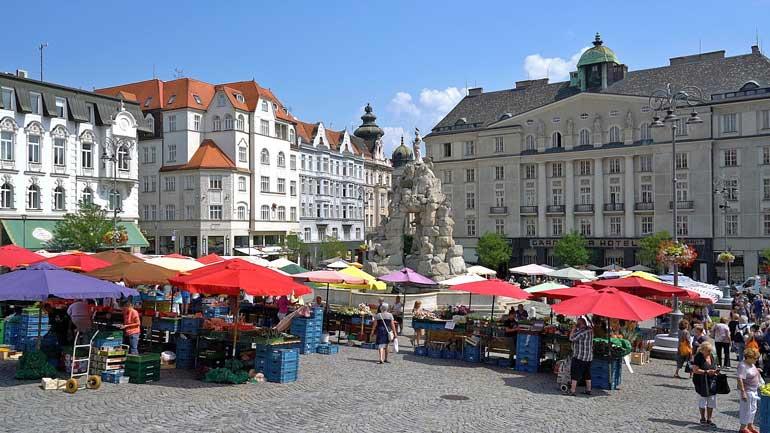 Plaza del Mercado de la Col en Brno