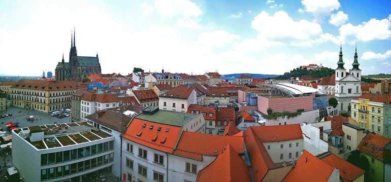 Vista desde la torre del Ayuntamiento antiguo de Brno