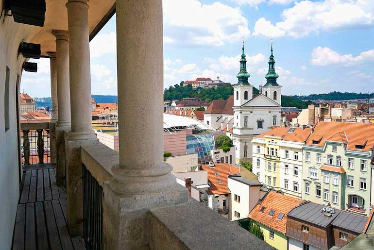 Vistas de Brno desde la torre del Ayuntamiento antiguo