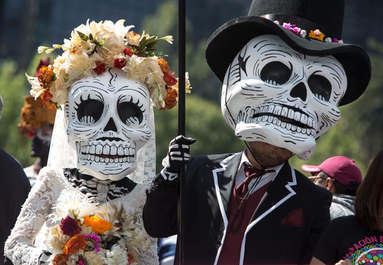 Desfile día de Muertos. © Christian Palma