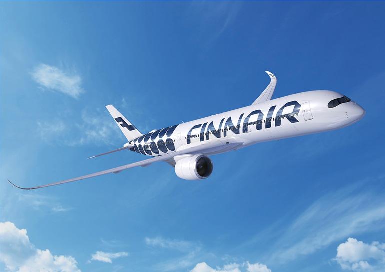 El A350 es el avión emblema de Finnair