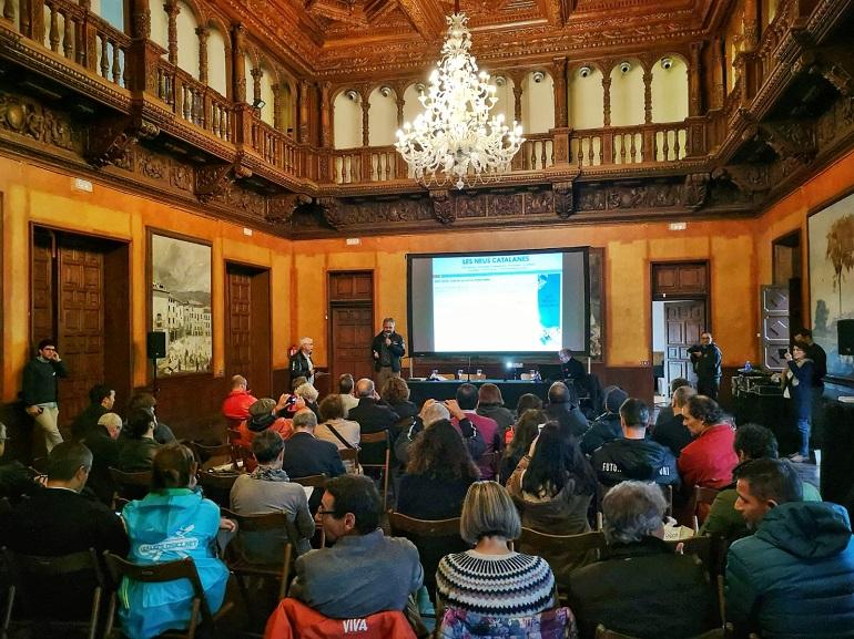 Presentación de Las Neiges Catalanes en el marco de la feria de esquí Let's Snow BCN'18