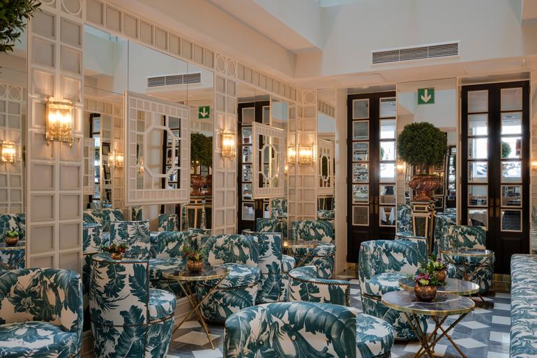 Salón espejos Hotel Heritage Madrid