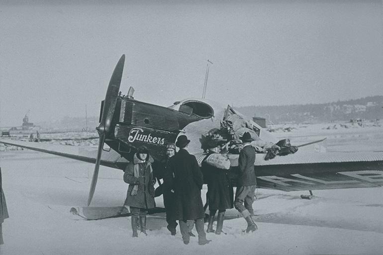 Junker de la aerolínea Aero, embrión de la futura Finnair