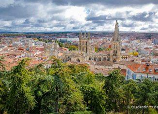 Vistas de la ciudad de Burgos desde el mirador del Castillo