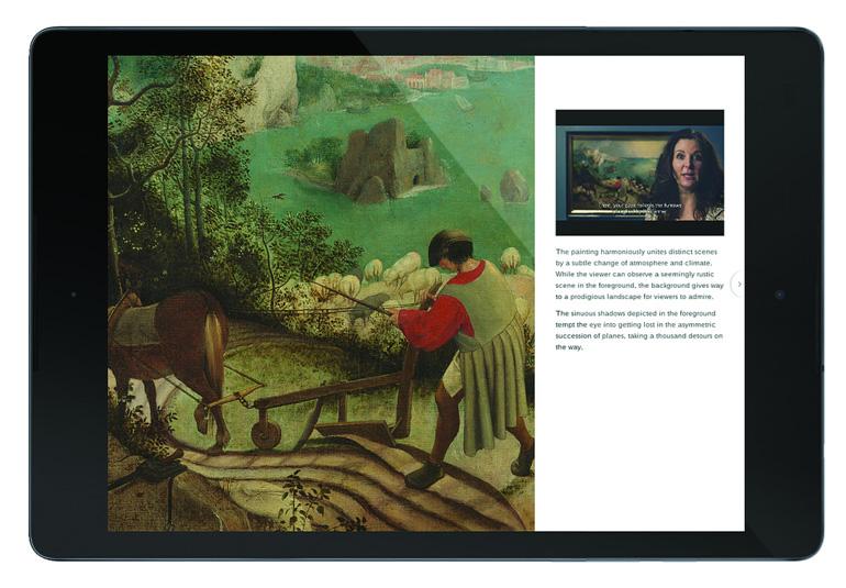Obra maestra de Bruegel en tablet © KMSKB