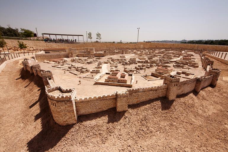 Maqueta de Jerusalén de la época del segundo templo del Museo de Israel.
