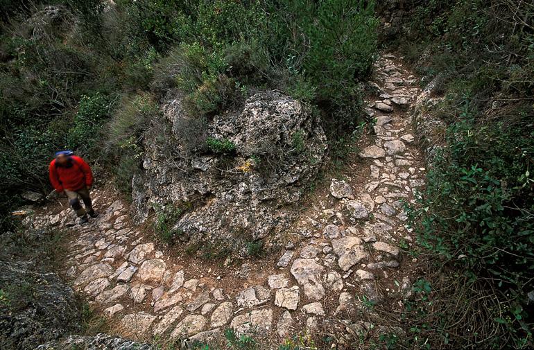 Camino empedrado de Vilaplana a la Mussara © Rafael López-Monné