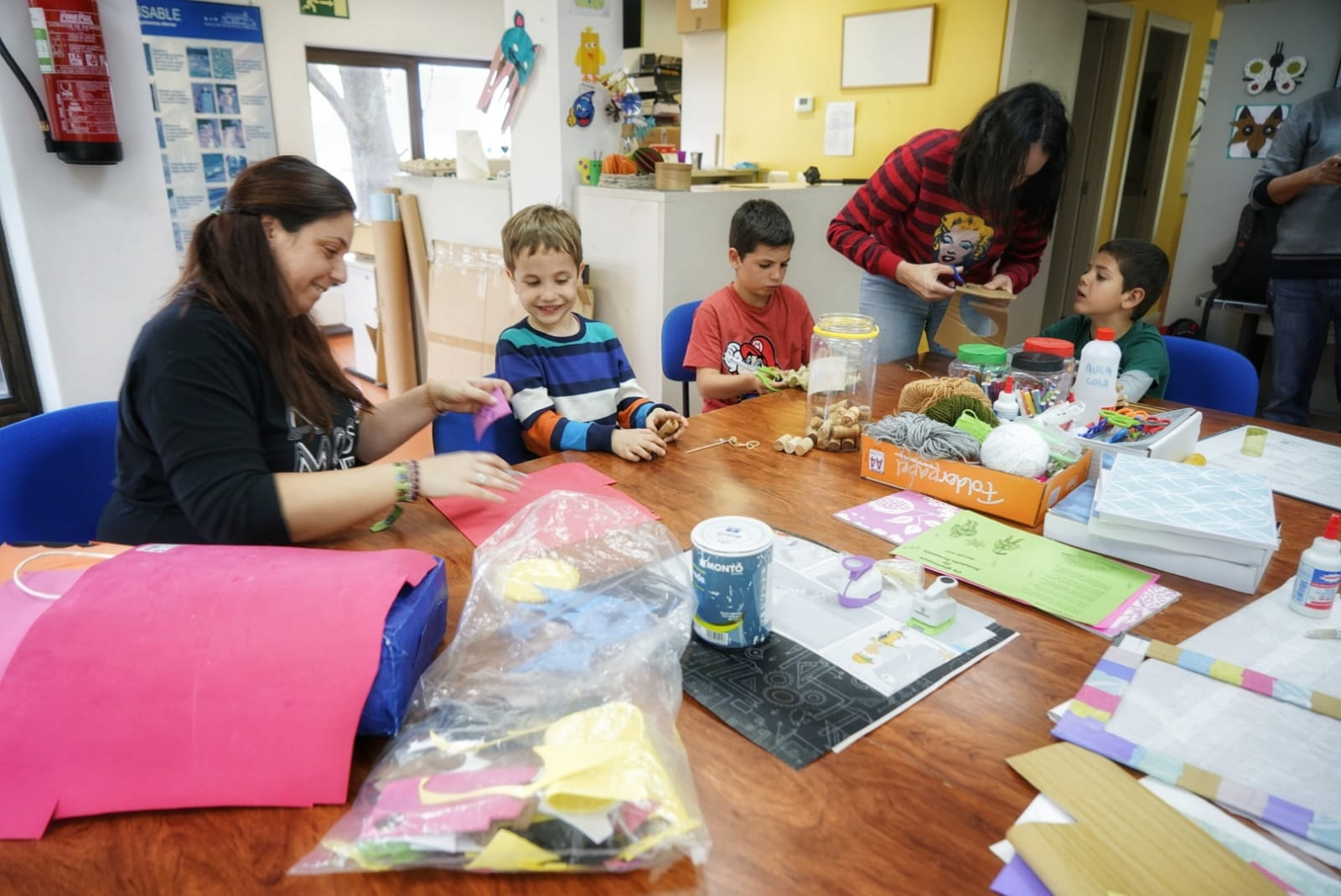 Taller infantil en el Aula de Ecoloxía Urbana