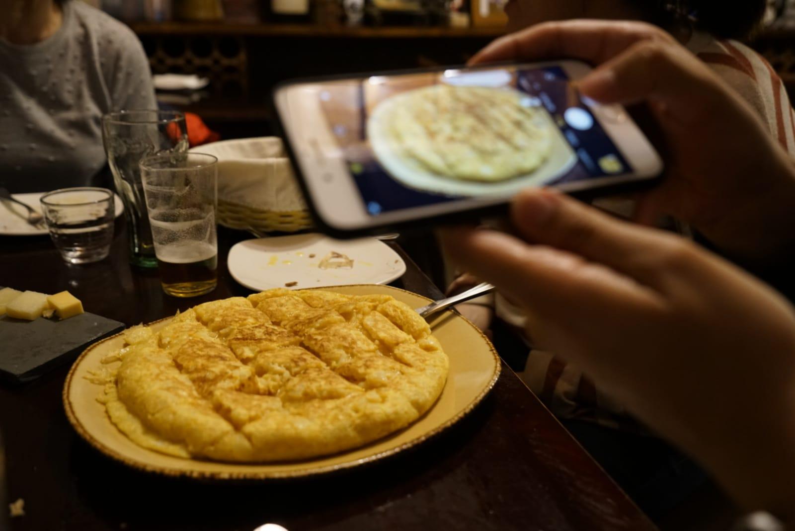 La tortilla de patatas de Ferrol es, simplemente, espectacular