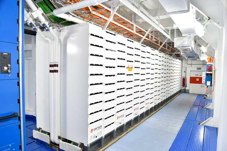 Planta de mega batería de litio con una capacidad de más de 5 MWh del Cruise Roma