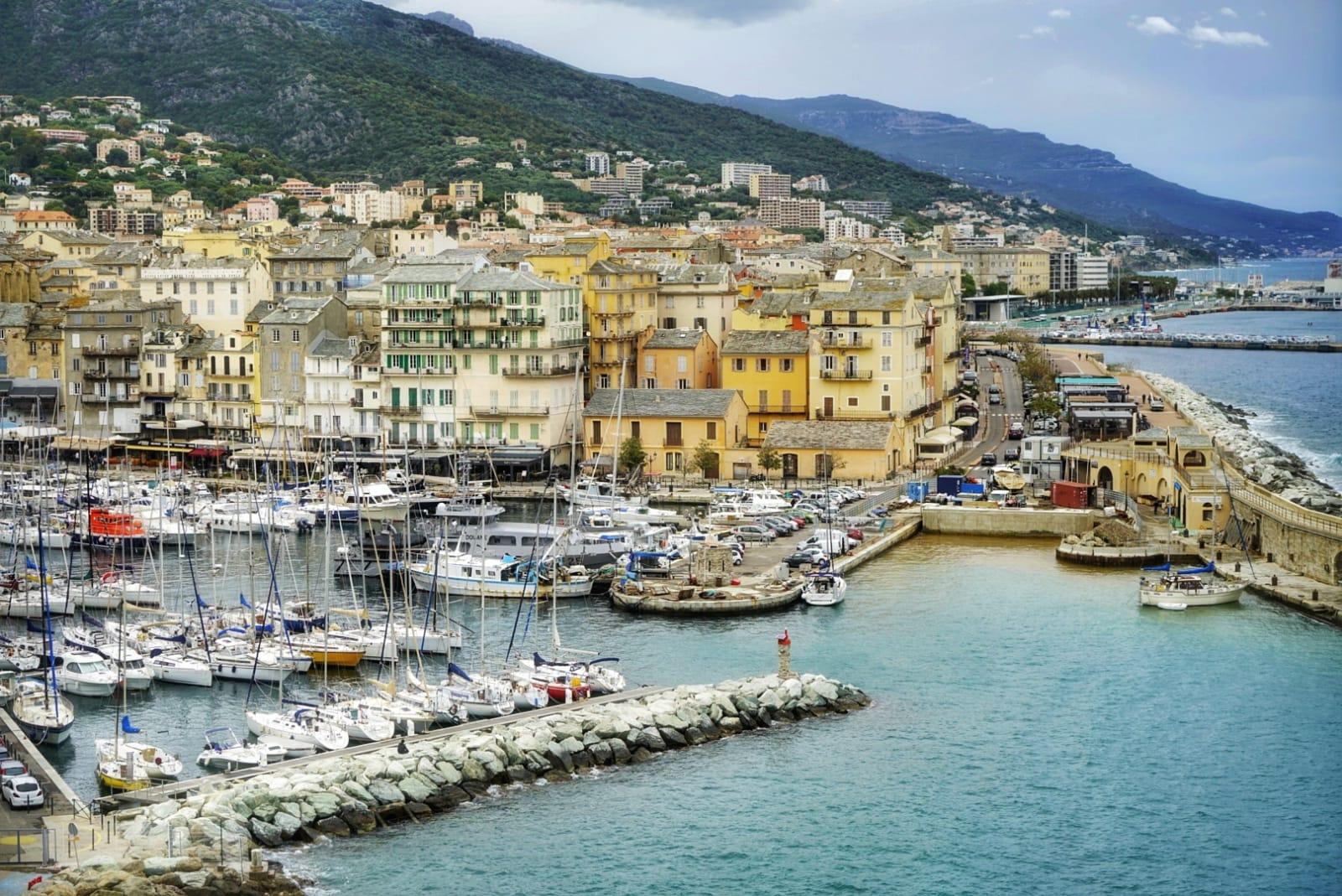 Vistas del Puerto de Bastia desde la Ciudadela.