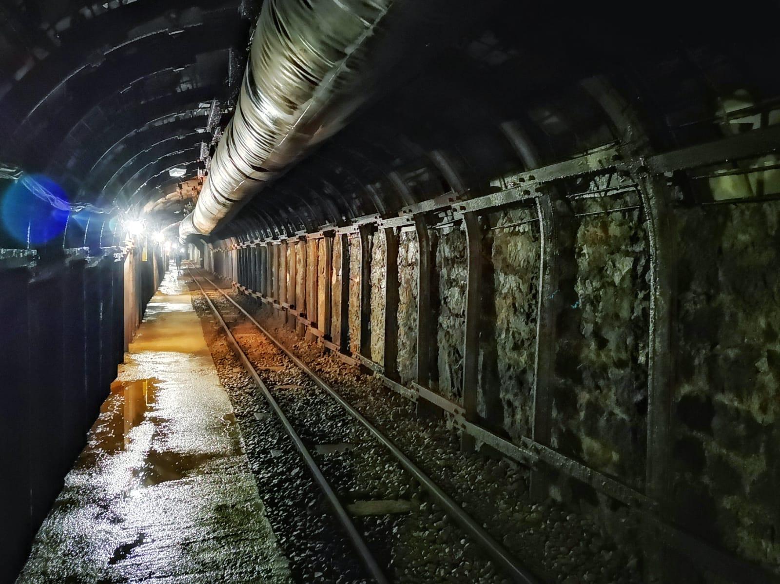 Interior mina de Sant Romà