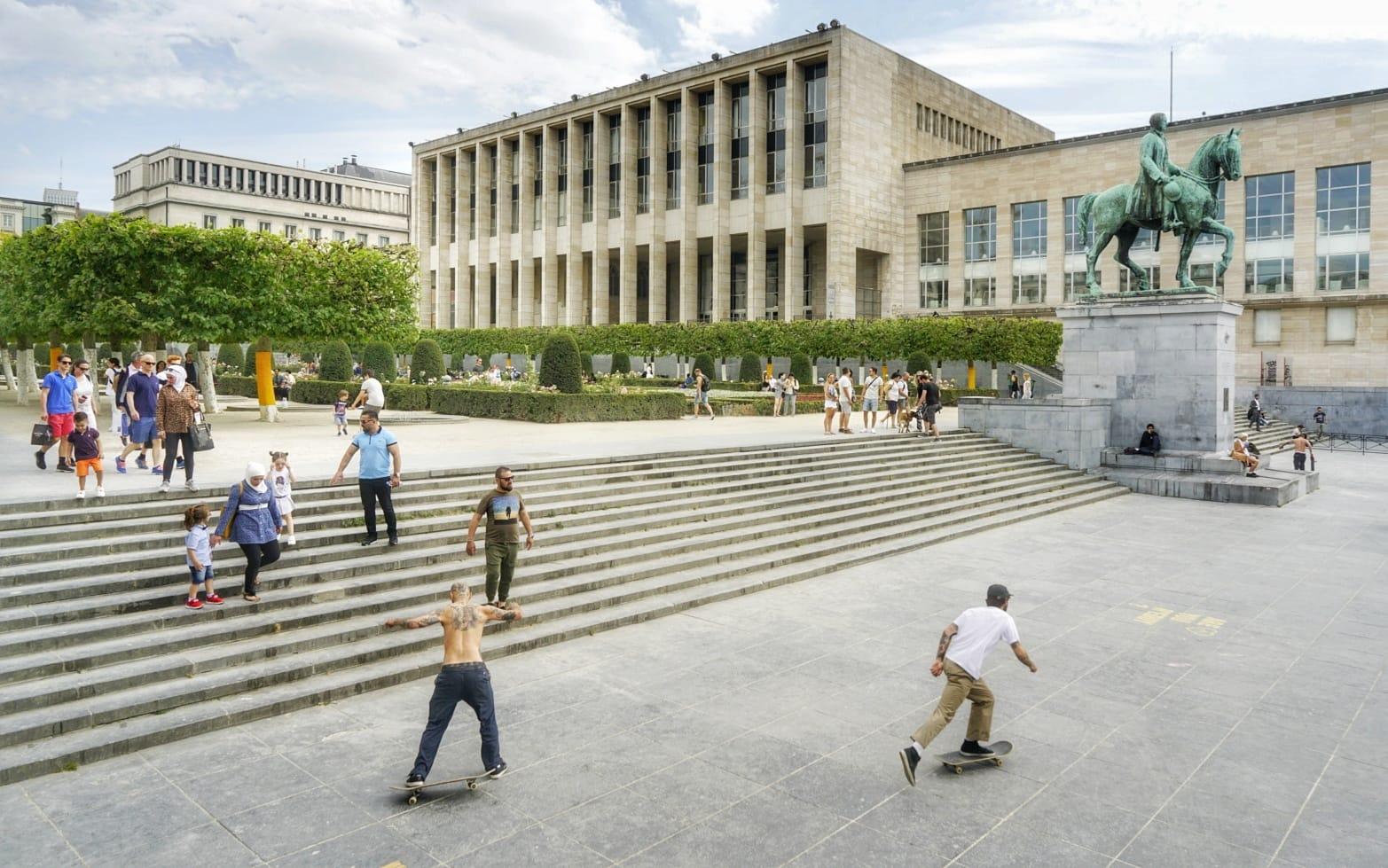 En Mont des Arts están la biblioteca y el palacio de la dinastía