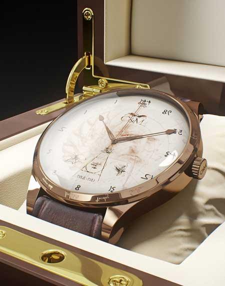 Reloj Col&MacArthur en homenaje a Leonardo Da Vinci