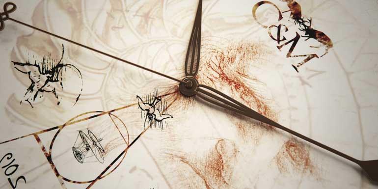 Esfera del reloj Col&MacArthur en homenaje a Leonardo Da Vinci