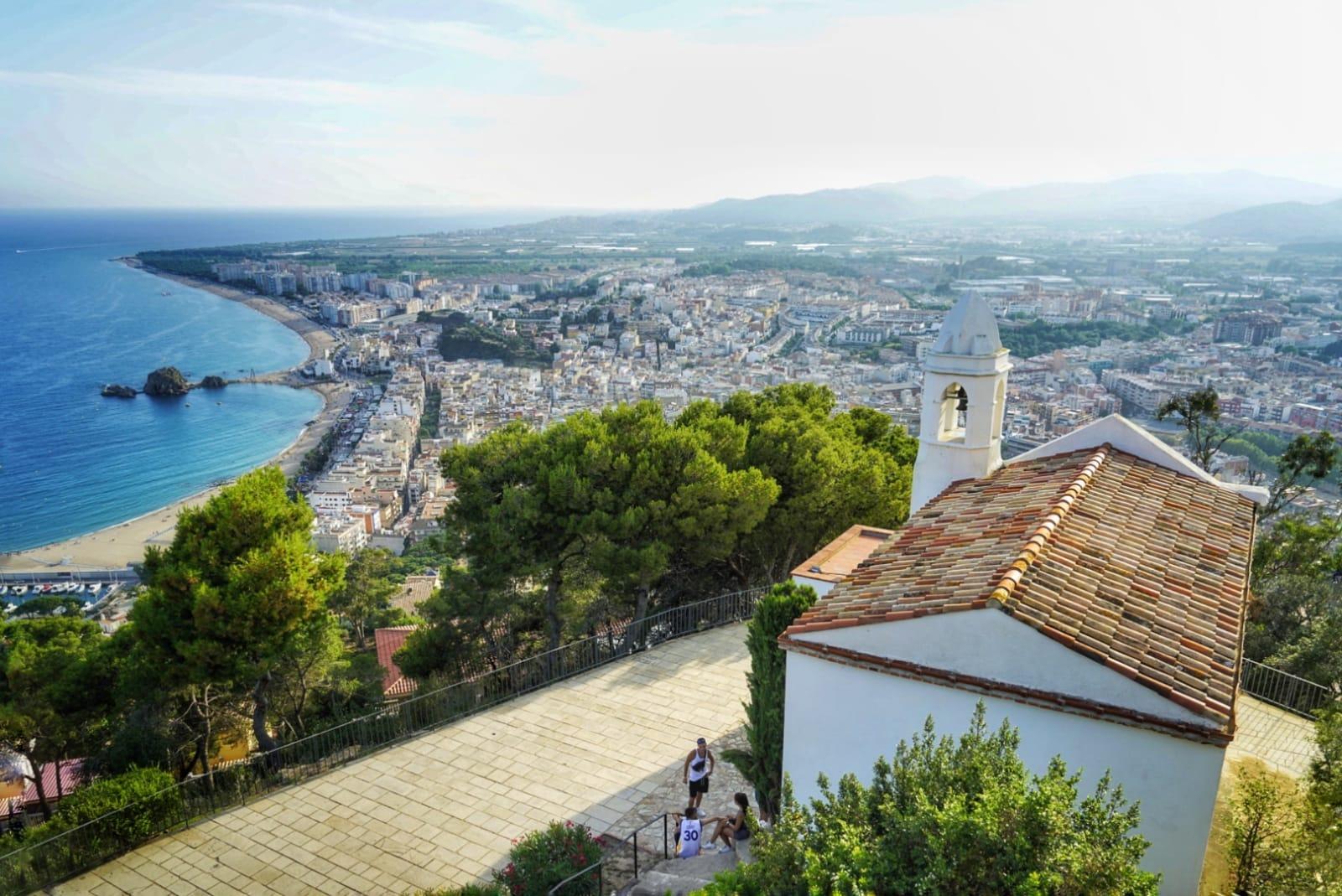 Vistas de Blanes desde el Castillo de Sant Joan