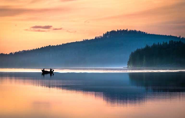 Sol de medianoche en Finlandia © Asko Kuittinen Visit Finland