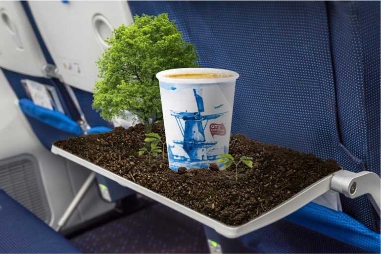 KLM Royal Dutch Airlines sirve café sostenible en sus vuelos